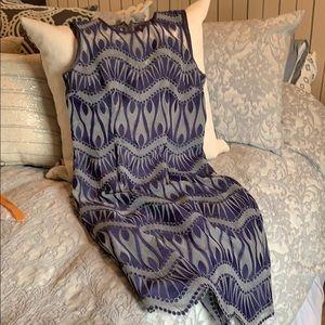 Nicole Miller Artelier gorgeous purple/slvr dress